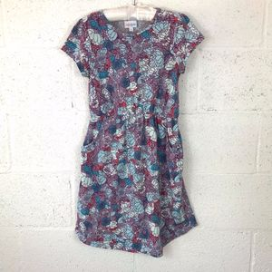 LulaRoe Girl's MAE Dress With Pockets. Size: 12